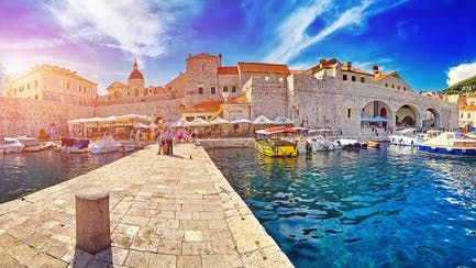 port of Dubrovnik from Croatia luxury superyacht charter in eastern mediterranean