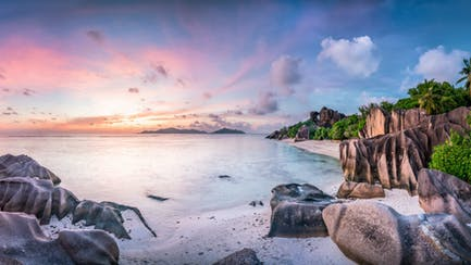 Idyllic beach on the Seychelles
