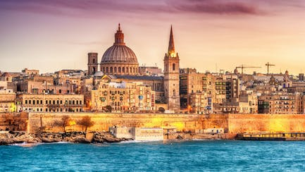 Skyline of Valletta
