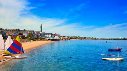 Provincetown Beach New England Yacht Charter View