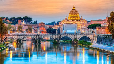 Rome and Western Italy luxury yacht charter view of st peter's basilica