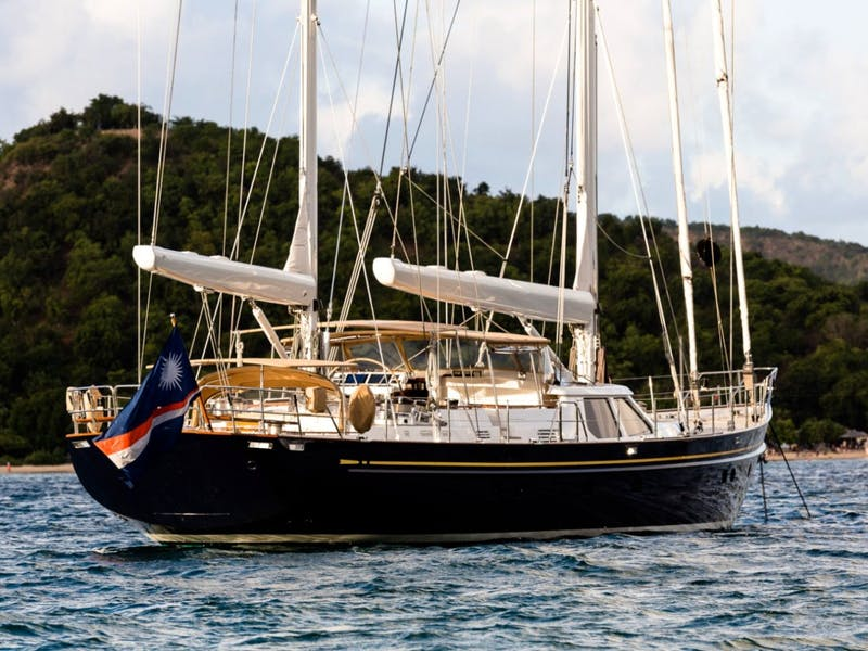 112' (34.14m) Alloy Sailing Yacht BLUE TOO Sold
