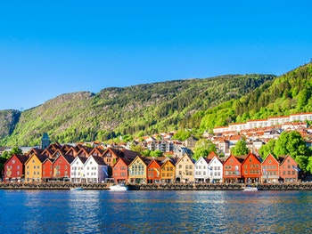 The iconic clapboard architecture of Bergen