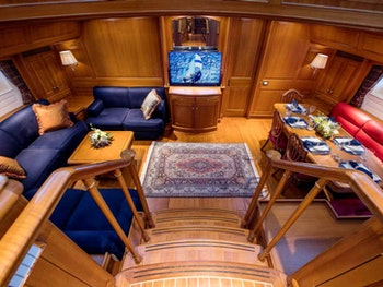 Alloy Sailing Yacht BLUE TOO Interior