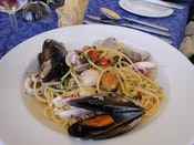 Malta Michelin star cuisine of pasta seafood onboard luxury yacht