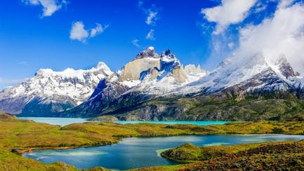 Patagonia yacht charter in Andes mountain range of Torres Del Paine Chile