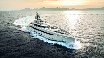 luxury mega yacht for sale owned by Ultra High-Net-Worth Individual cruising Atlantic Ocean