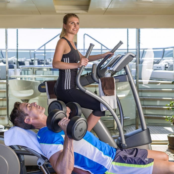 Eight Luxury Charter Yachts with Onboard Gyms