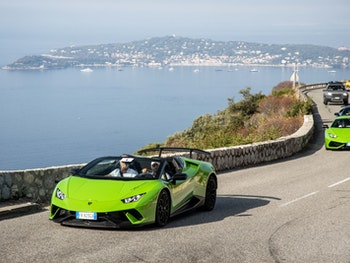 Lamborghini driving in Monaco for Bull Days 2020