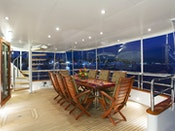 Palmer Johnson KIMBERLY Yacht for sale alfresco dining
