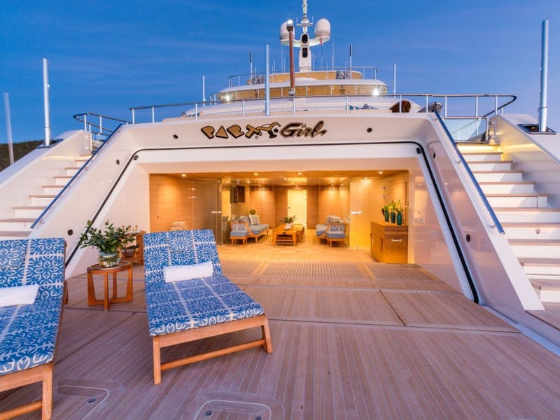 Seven Charter Yachts With Impressive Beach Clubs