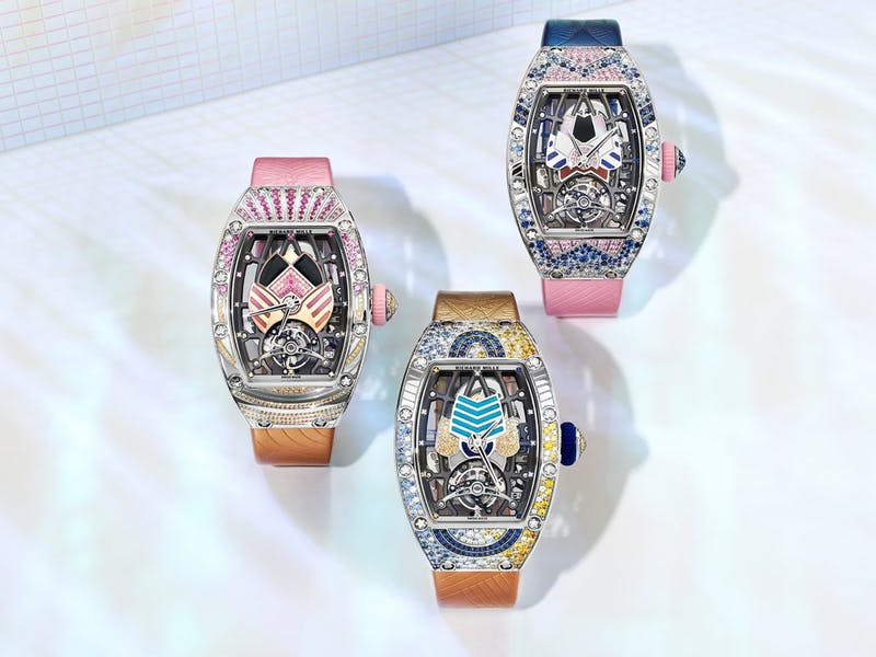 Multi-Colored Gemstones Set the New Richard Mille RM 71-02 Automatic Tourbillon Talisman Limited Editions Alight