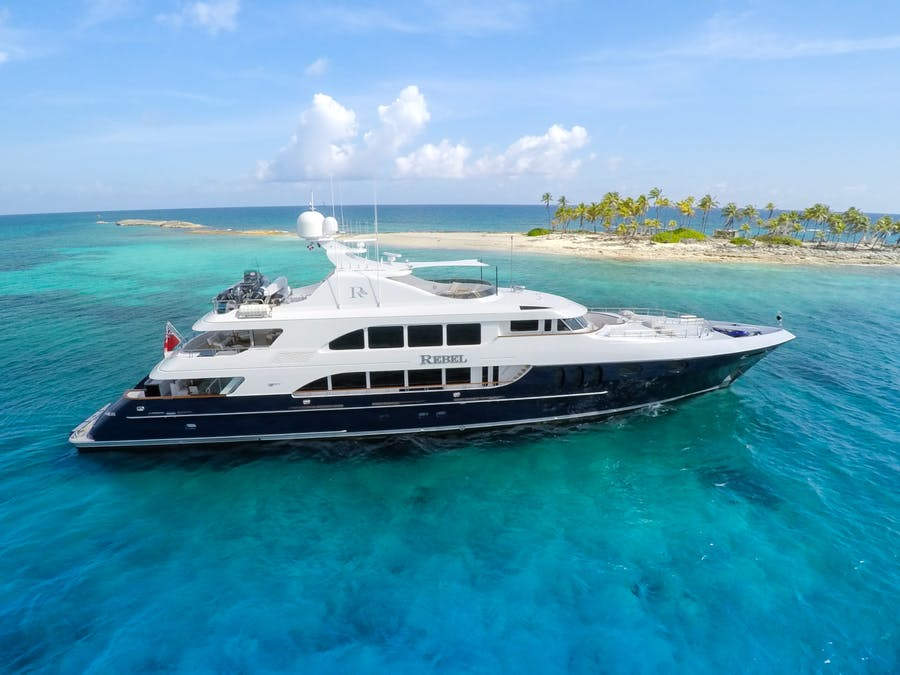 Seasonal Rates for REBEL Private Luxury Yacht For Charter