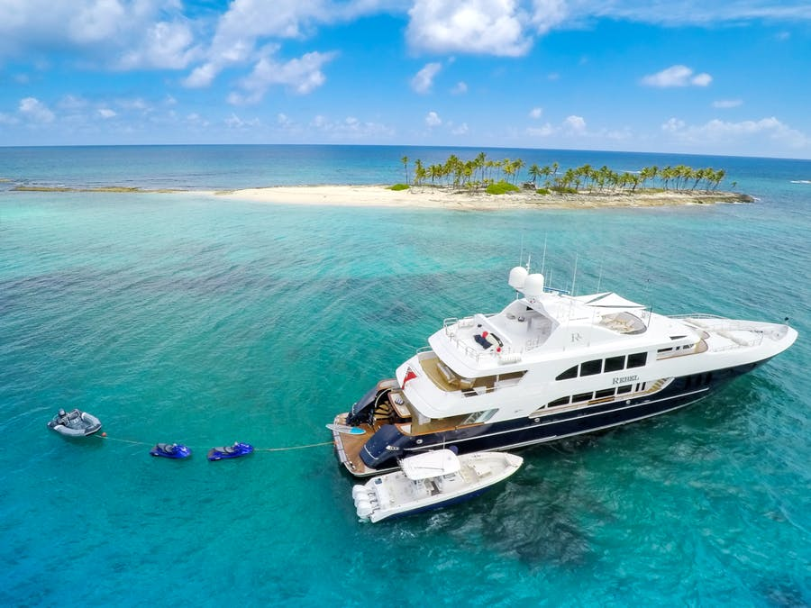 Features for REBEL Private Luxury Yacht For charter