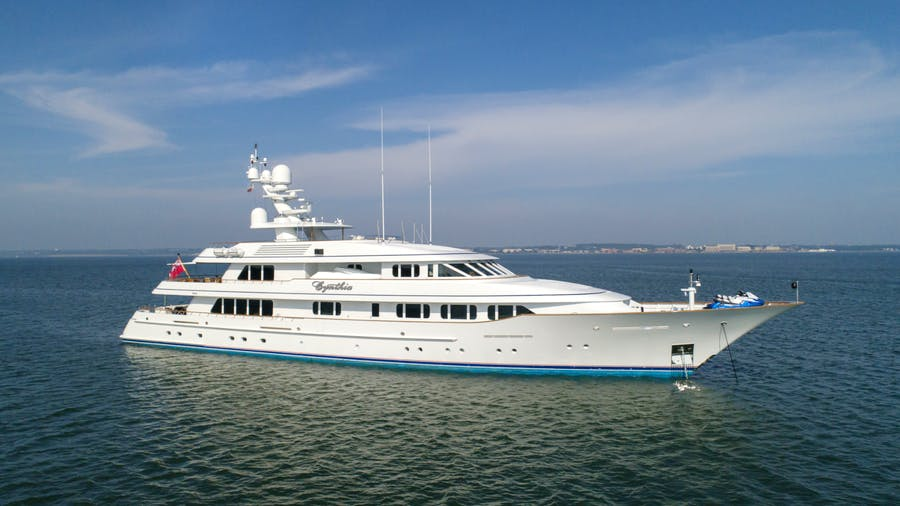 Seasonal Rates for CYNTHIA Private Luxury Yacht For Charter