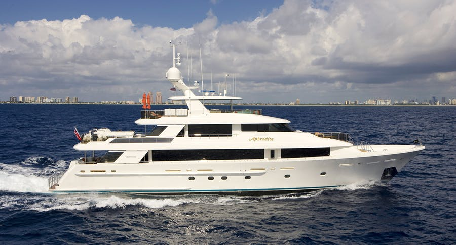 Seasonal Rates for APHRODITE Private Luxury Yacht For Charter
