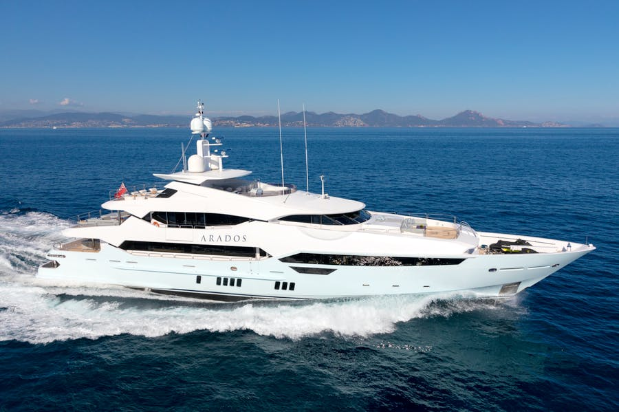 Seasonal Rates for ARADOS Private Luxury Yacht For Charter