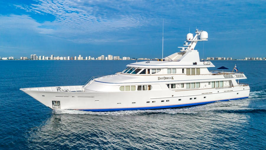 Features for DAYBREAK Private Luxury Yacht For charter
