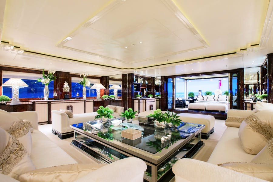 Features for LIONESS V Private Luxury Yacht For charter