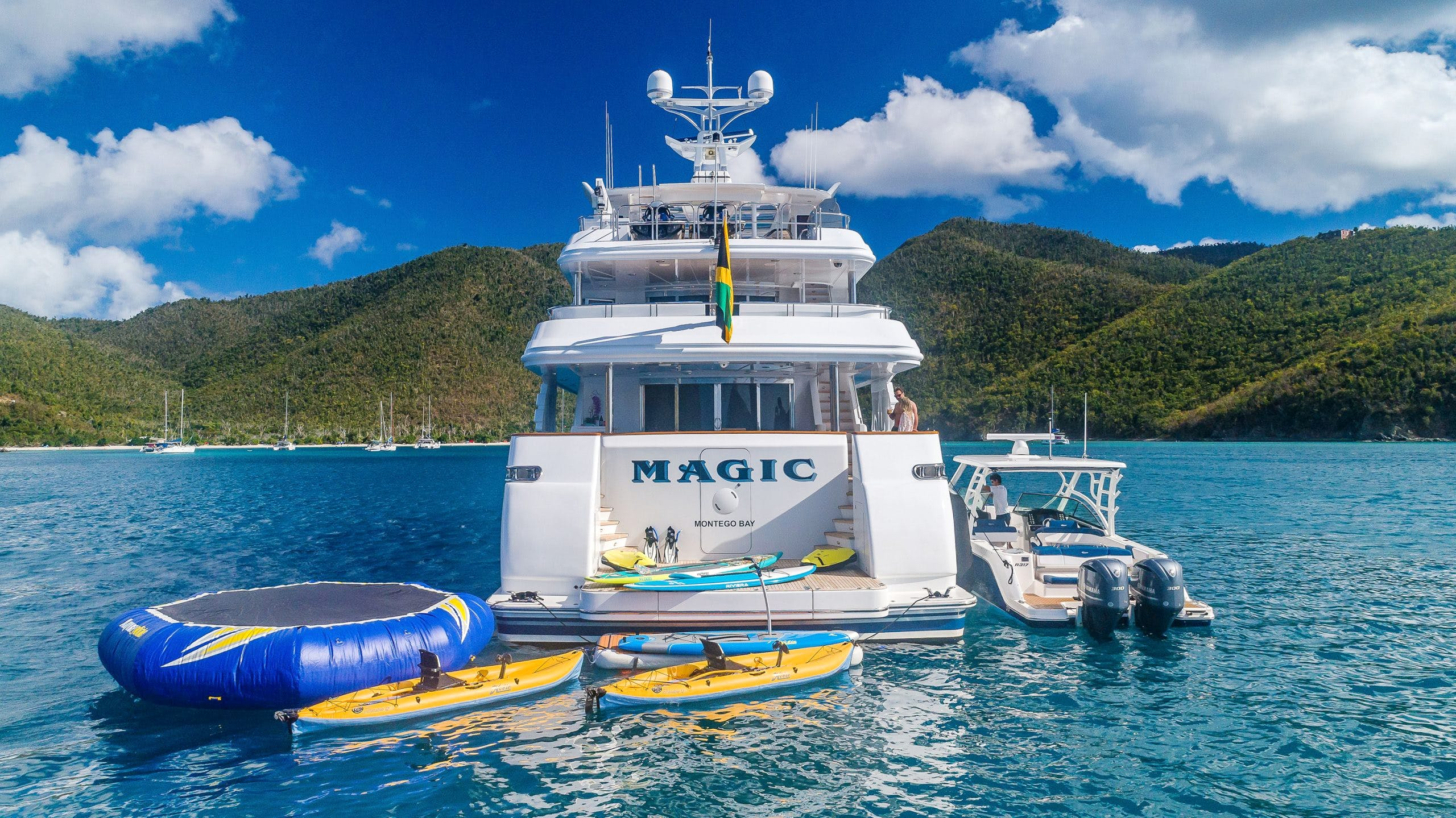 Seasonal Rates for MAGIC 130 Private Luxury Yacht For Charter