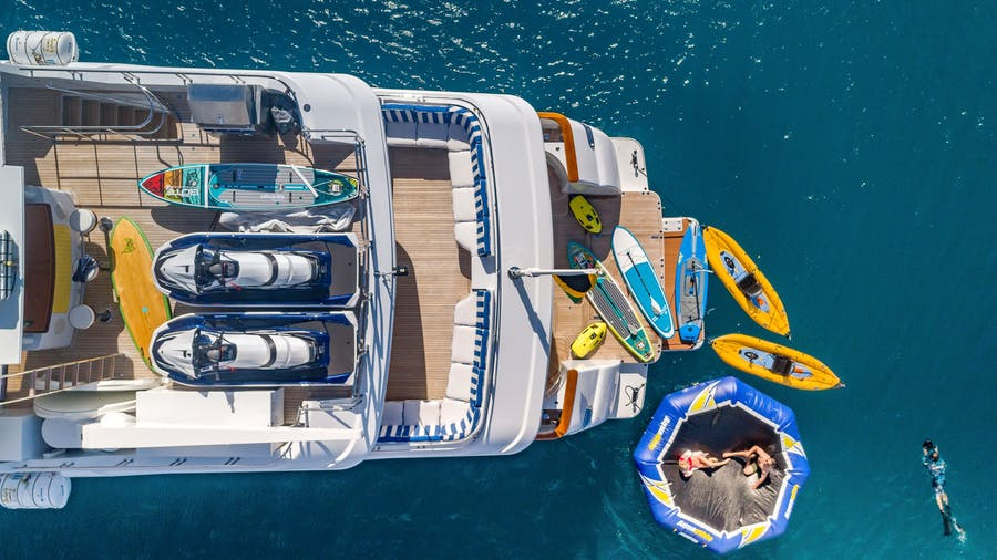 Tendar & Toys for MAGIC 130 Private Luxury Yacht For charter