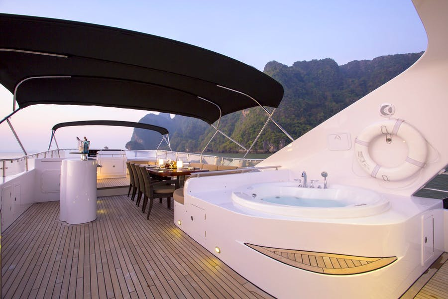 Features for MIA KAI Private Luxury Yacht For charter