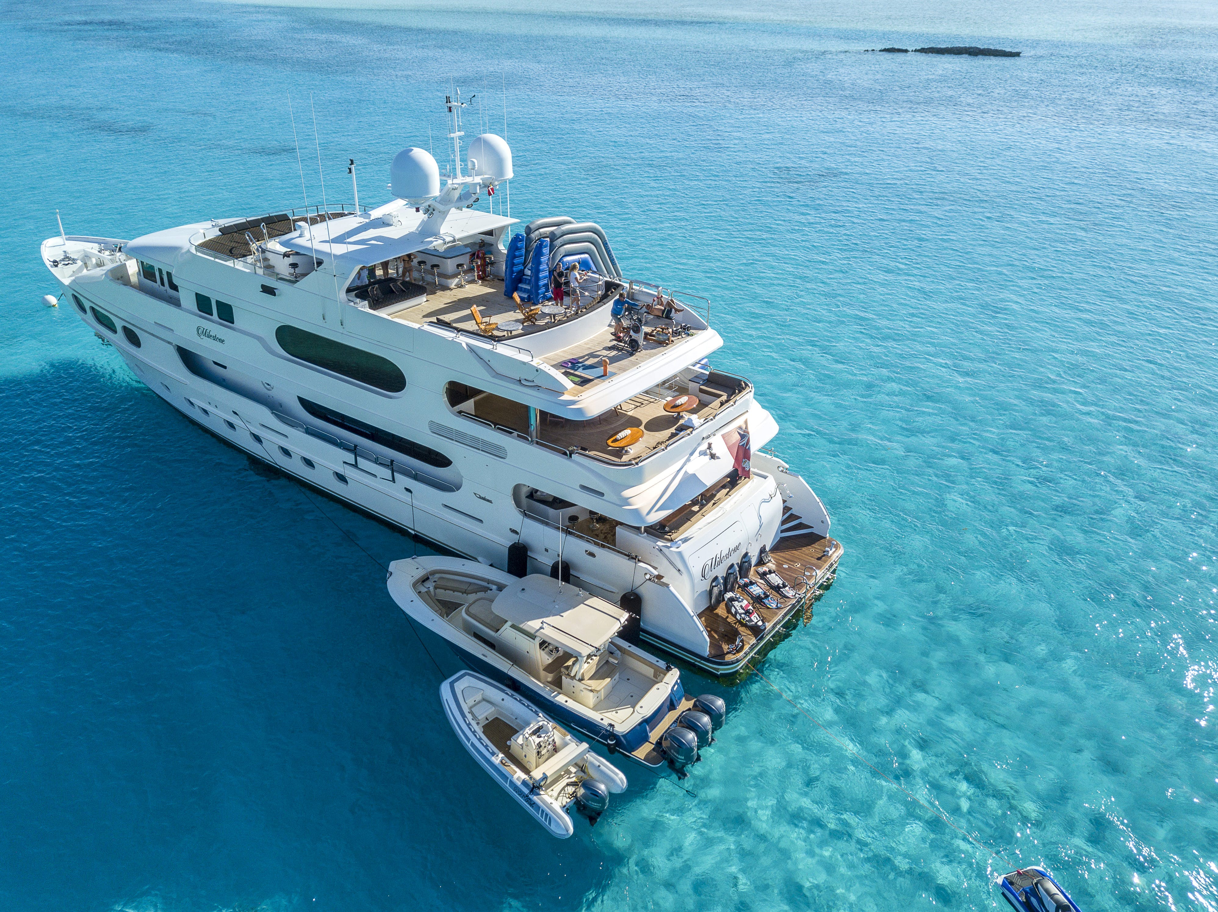 Seasonal Rates for MILESTONE Private Luxury Yacht For Charter