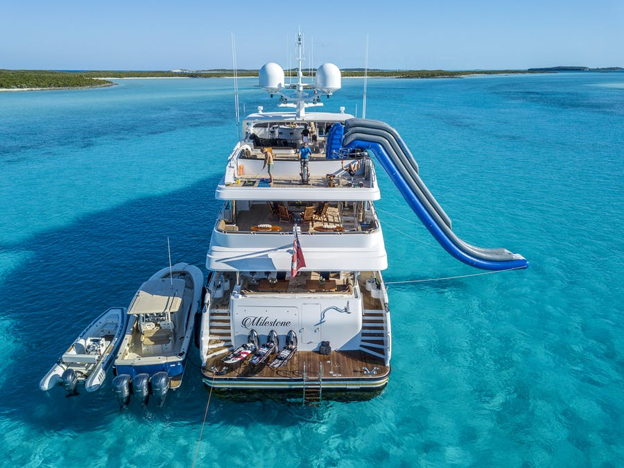 Tendar & Toys for MILESTONE Private Luxury Yacht For charter