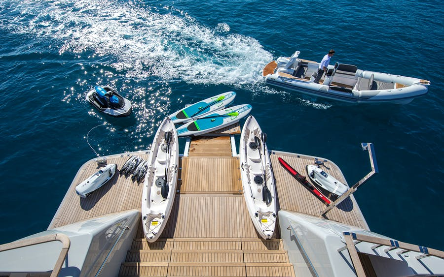 Tendar & Toys for MIMI LA SARDINE Private Luxury Yacht For charter