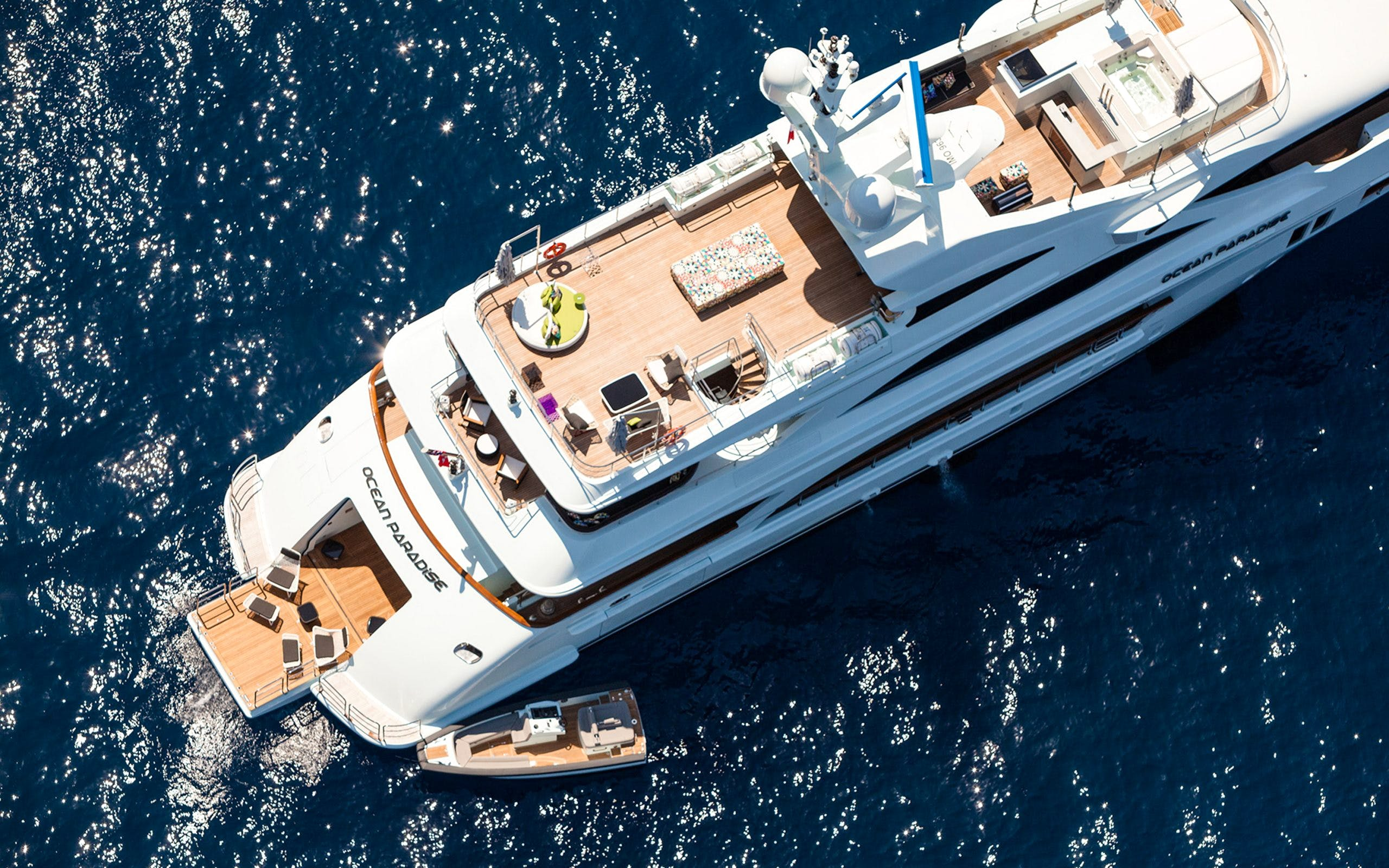Seasonal Rates for OCEAN PARADISE Private Luxury Yacht For Charter