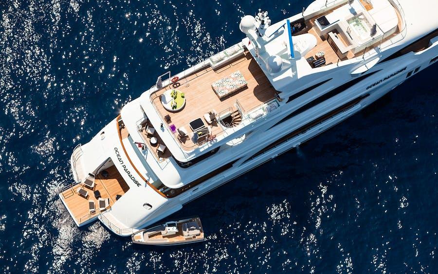 Tendar & Toys for OCEAN PARADISE Private Luxury Yacht For charter
