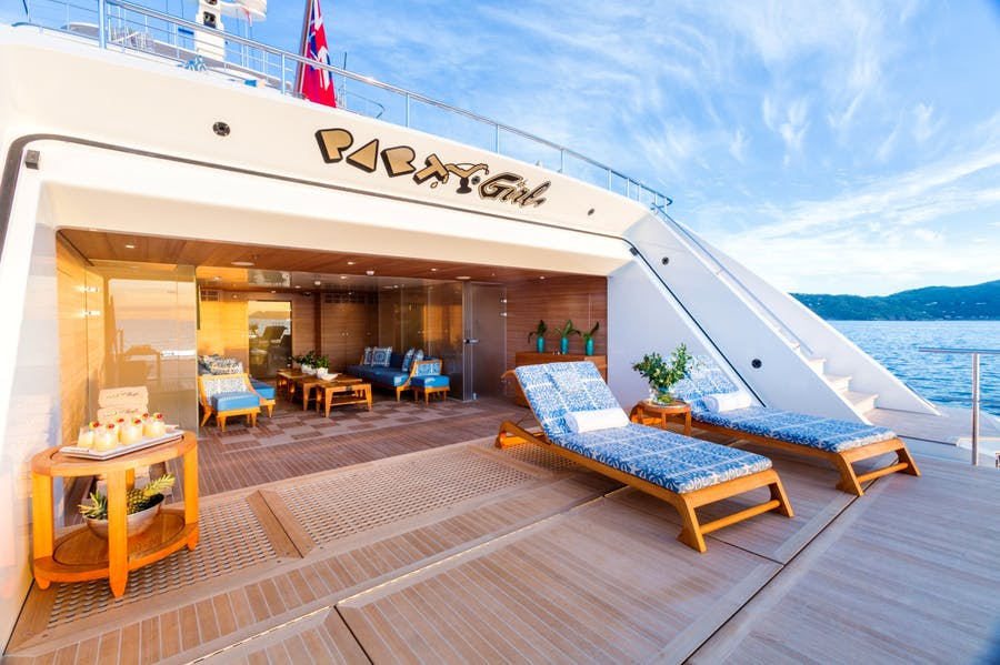 Features for PARTY GIRL Private Luxury Yacht For charter