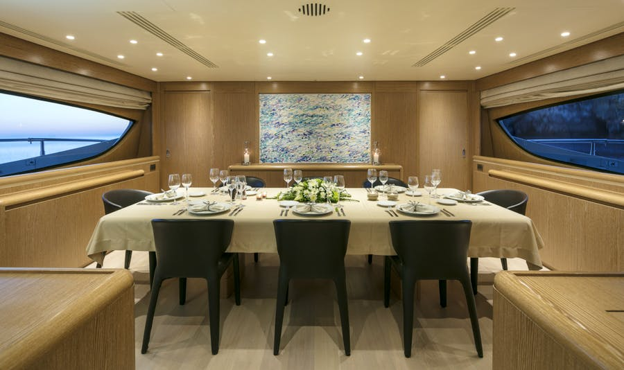 Features for RINI V Private Luxury Yacht For charter