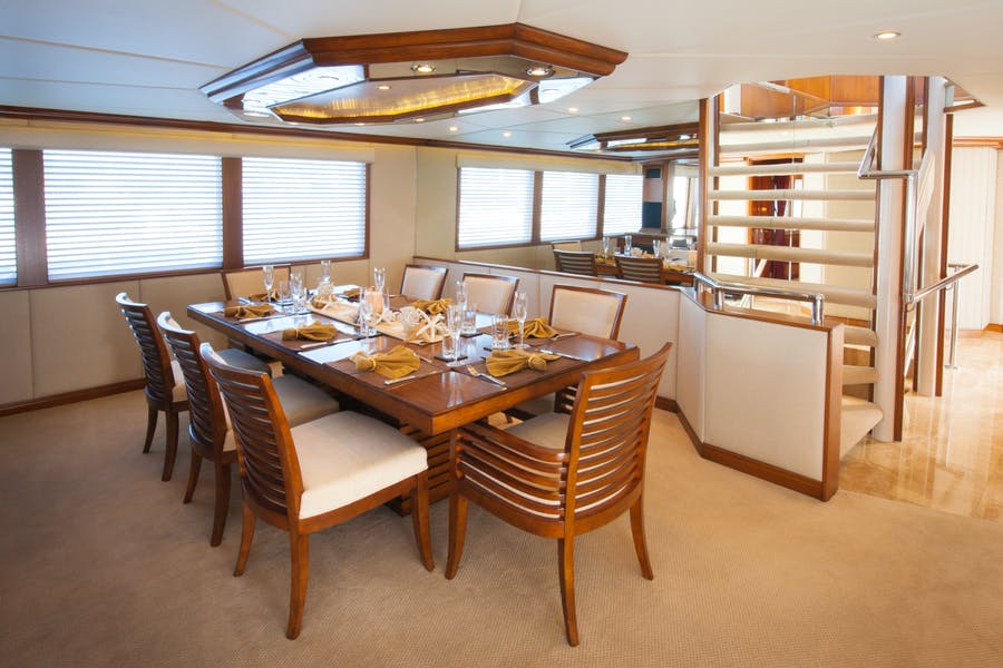 Features for SERENITY 122 Private Luxury Yacht For charter