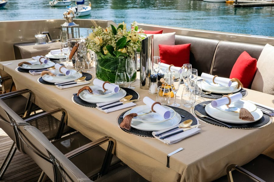 Features for SHADOW Private Luxury Yacht For charter