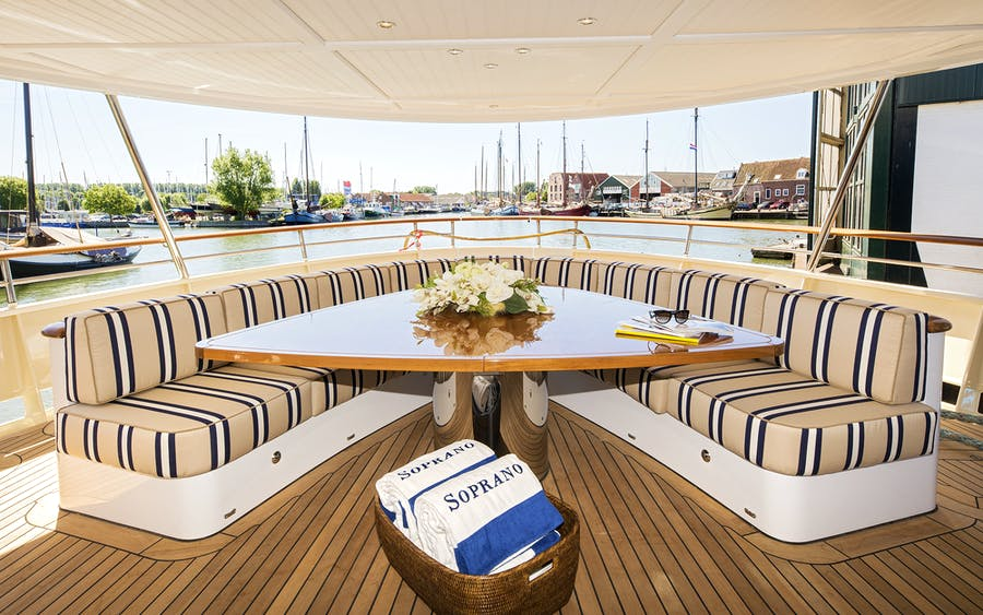 Features for SOPRANO Private Luxury Yacht For charter
