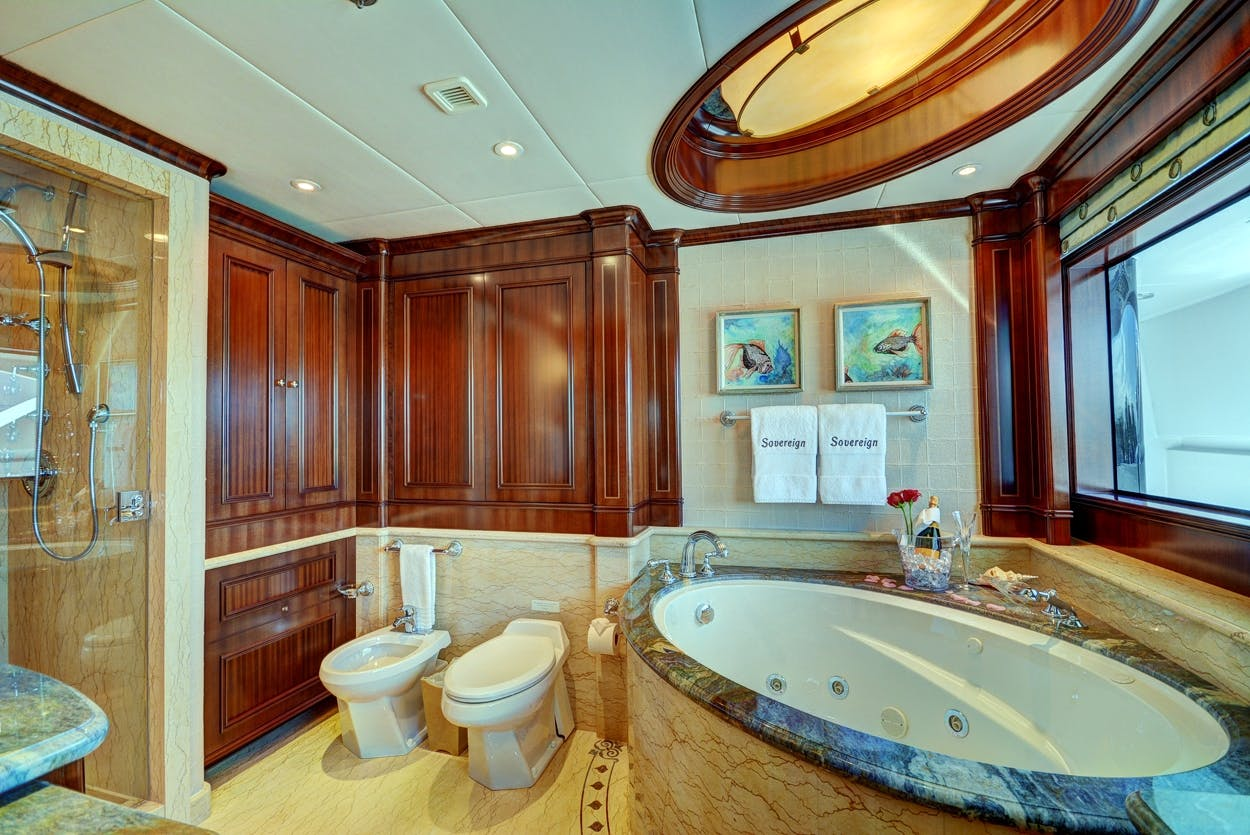 Seasonal Rates for SOVEREIGN Private Luxury Yacht For Charter