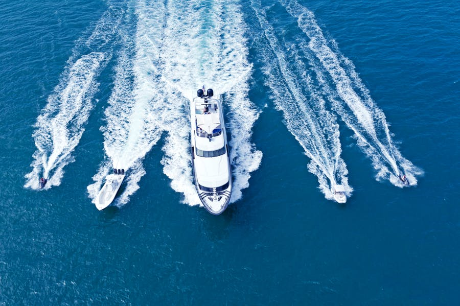 Tendar & Toys for TEMPTATION Private Luxury Yacht For charter