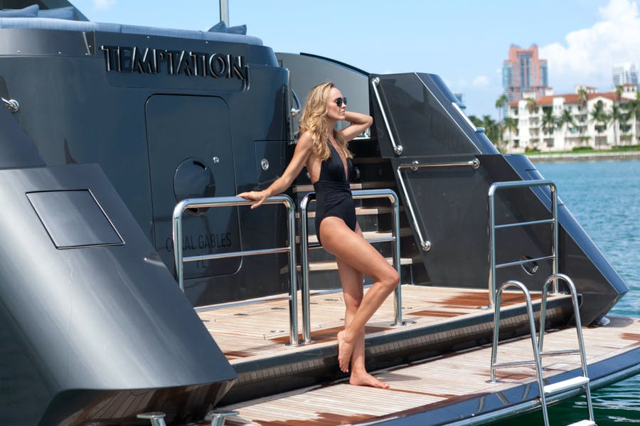 Features for TEMPTATION Private Luxury Yacht For charter