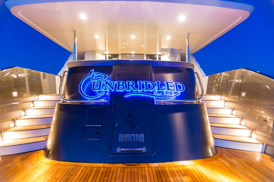 Features for UNBRIDLED Private Luxury Yacht For charter