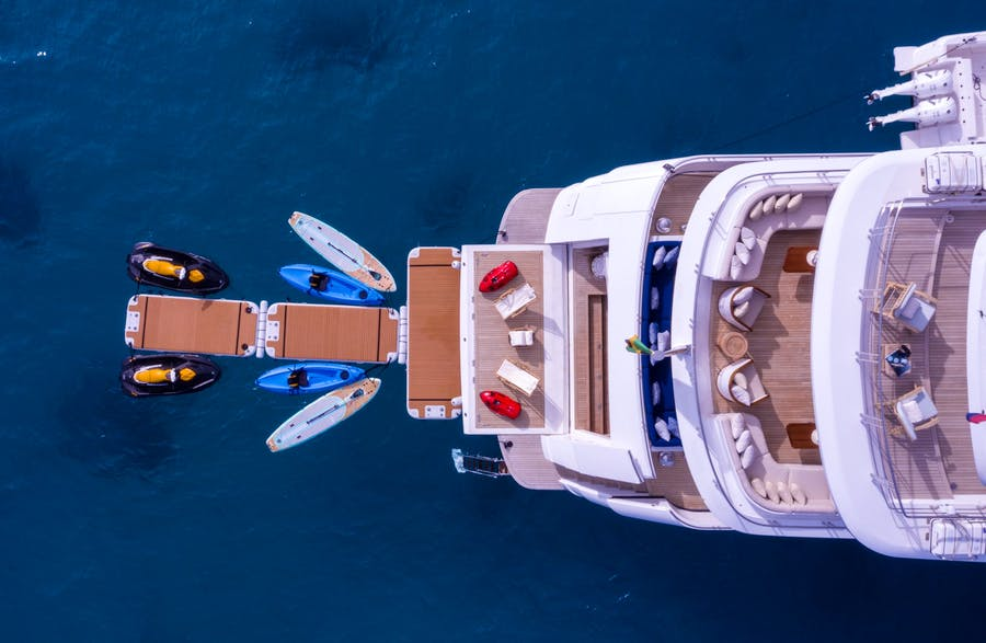 Tendar & Toys for BALISTA Private Luxury Yacht For charter