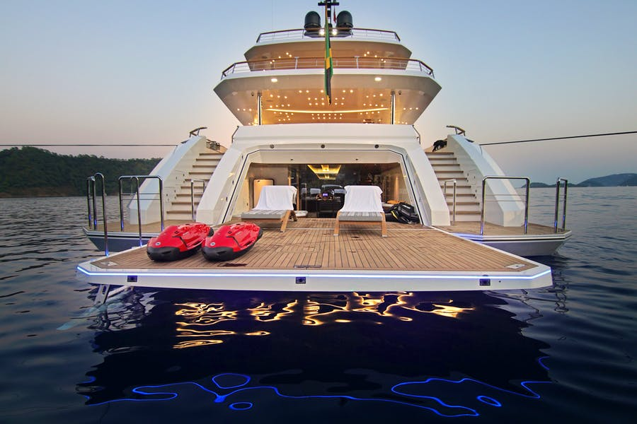 Tendar & Toys for BABA'S Private Luxury Yacht For charter