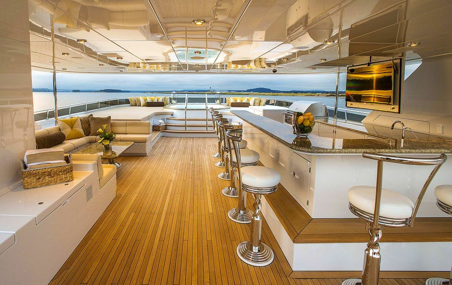 Features for SILVER LINING Private Luxury Yacht For charter