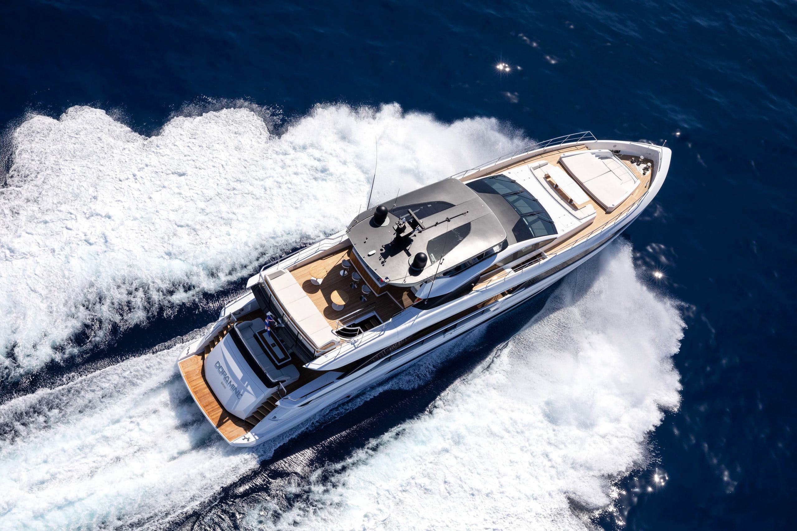 Seasonal Rates for DOPAMINE Private Luxury Yacht For Charter