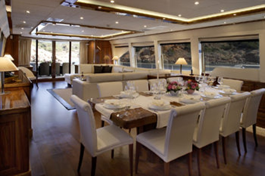 Features for DRAGON Private Luxury Yacht For charter